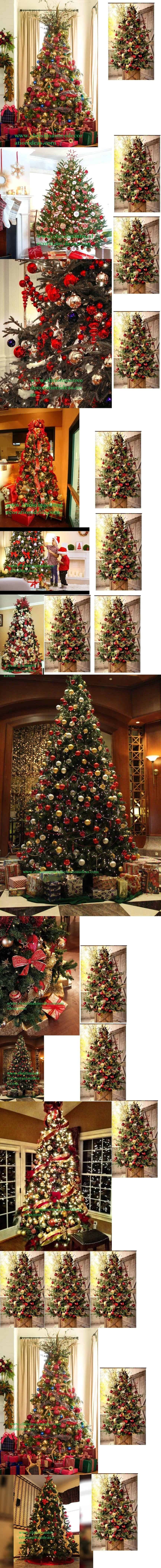 Red And Gold Christmas Tree Decorating Ideas